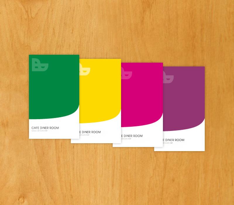 カフェの名刺ショップカード-アルニコデザイン