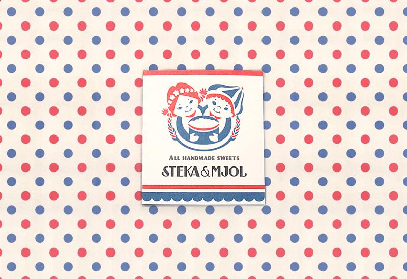 アイシングクッキー屋のショップカード-アルニコデザイン
