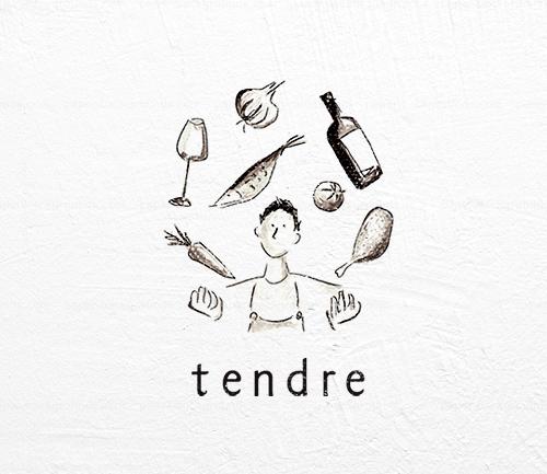 フレンチレストランのロゴデザイン制作