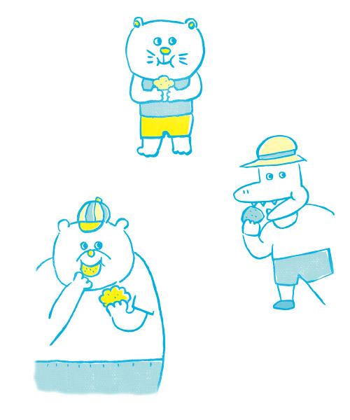 お菓子屋さんのかわいいロゴデザイン - アルニコデザイン