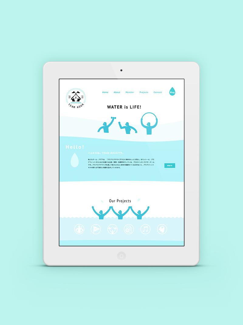 フィットネスインストラクターチームのWEBサイト - アルニコデザイン
