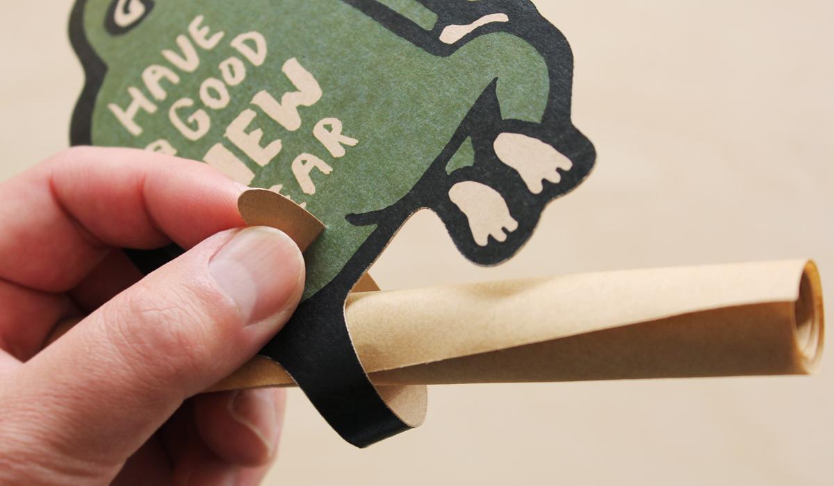 申年サルの年賀状グリーティングカード-アルニコデザイン