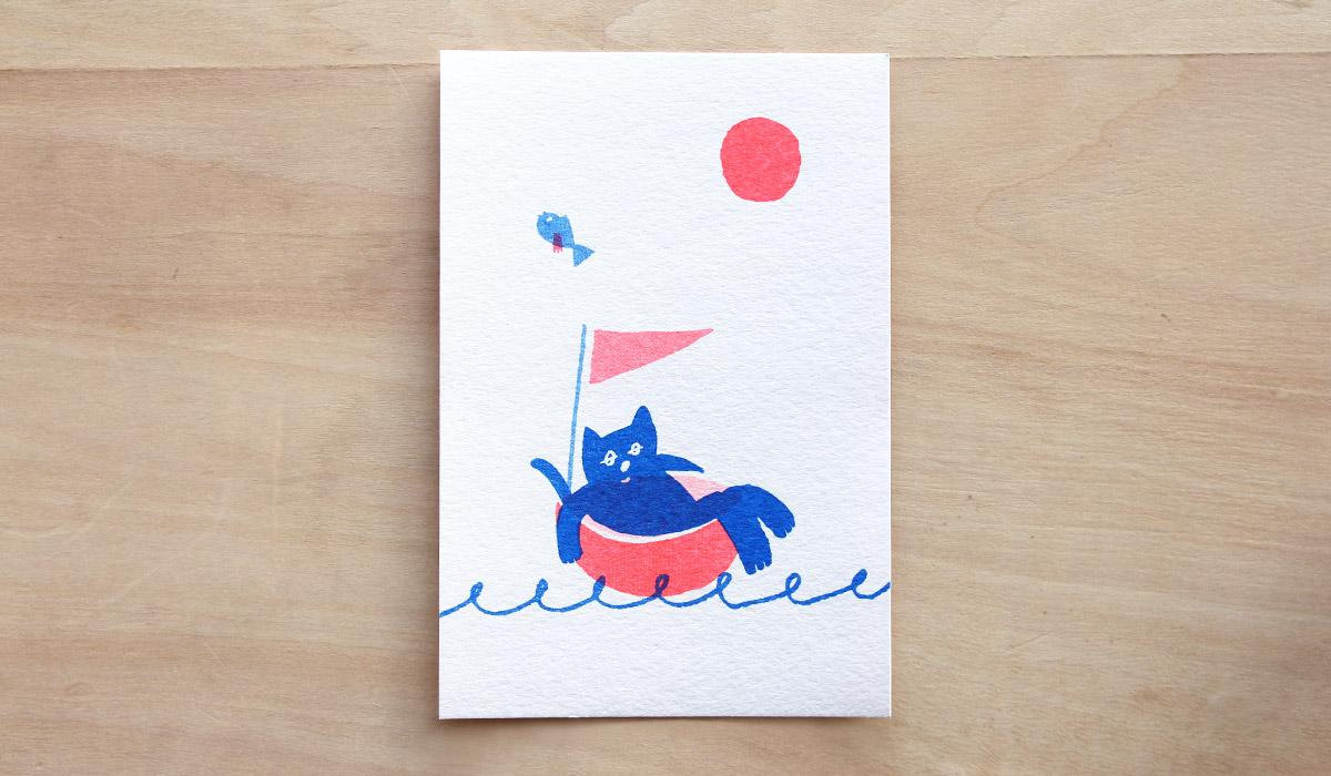 ヘアサロンのグリーティングカード・DM-アルニコデザイン